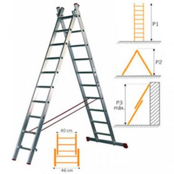 Escalera 2 tramos combinada